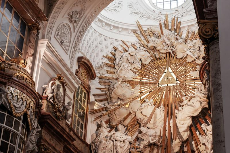 Saint Charles Church. Vienna, Austria stock image