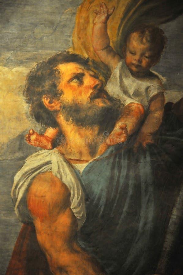 Saint Christopher fotografia de stock