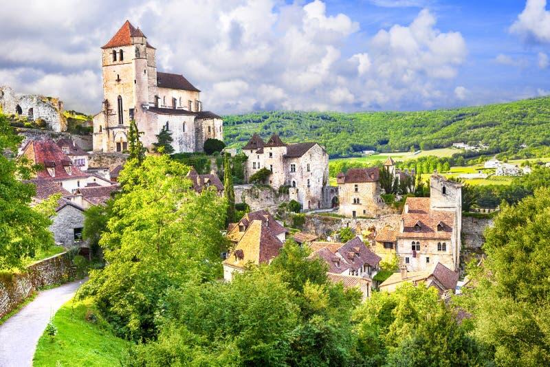 Saint-Cirq-Lapopie foto de stock royalty free