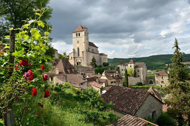 Saint-cirq-Lapopie deux photo libre de droits