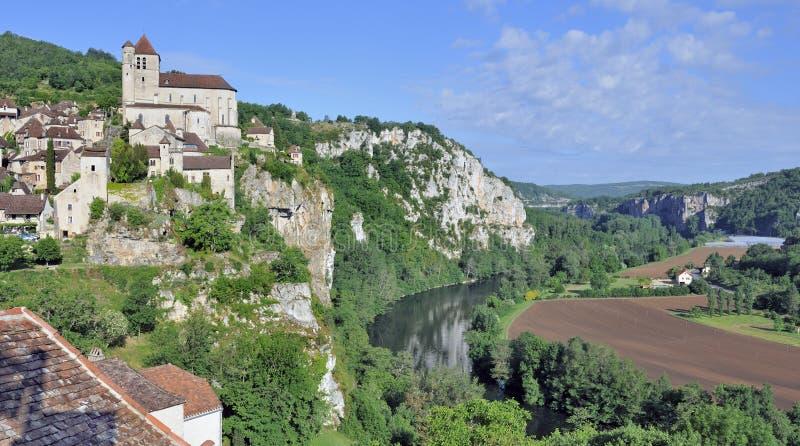 Saint-Cirq Lapopie, France fotos de stock royalty free