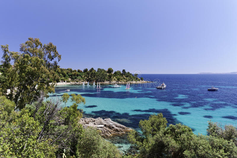Saint-Clair, French Riviera, France, Europe royalty free stock images