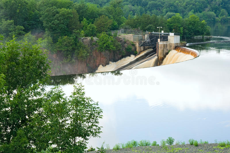 Download Saint Croix Falls and Dam stock image. Image of shores - 22081955