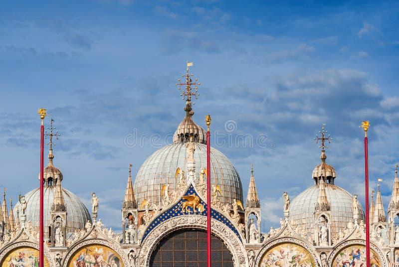 Saint décorations gothiques et bizantines de Mark Basilica photographie stock libre de droits