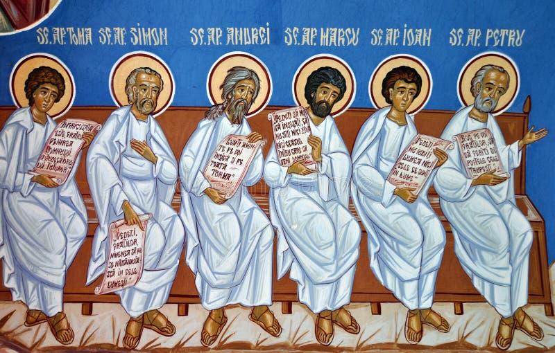 Saint da pintura de parede ilustração do vetor