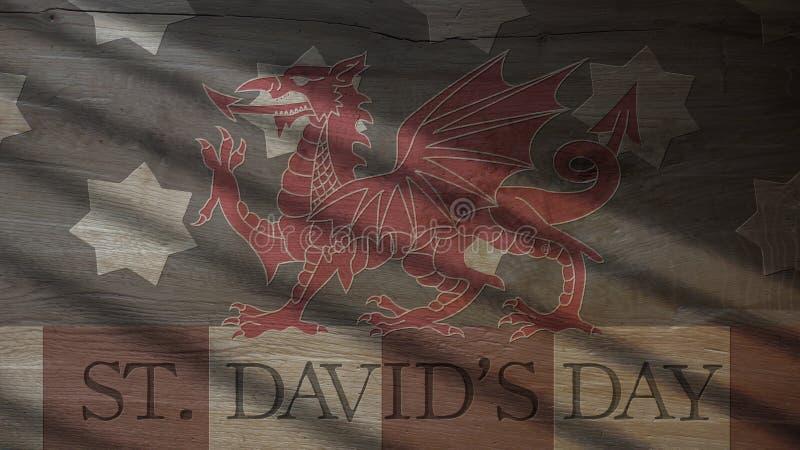 Saint David Day Les Etats-Unis diminuent et dragon photos stock