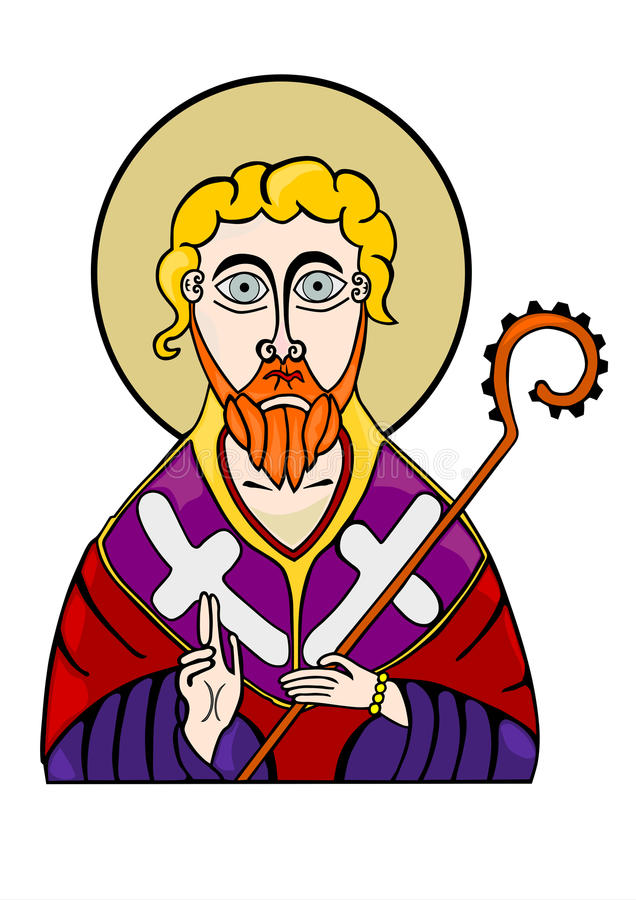 Saint de Othodox. ilustração royalty free