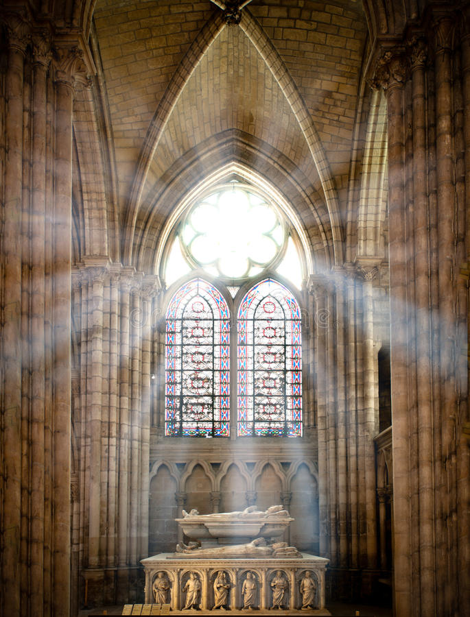 Saint denis cathedral royalty free stock photos