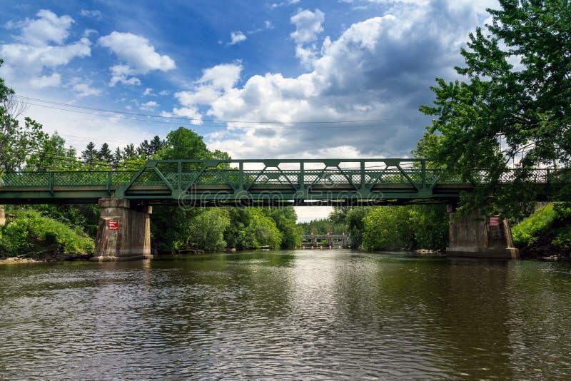 Saint-Didace de pont de rivière de Maskinonge photographie stock