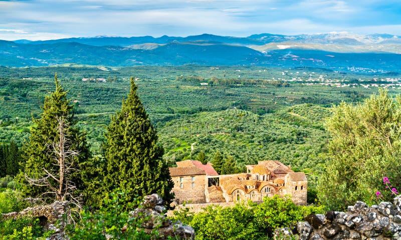 Saint Dimitrios Orthodox Metropolis på Mystras i Grekland fotografering för bildbyråer