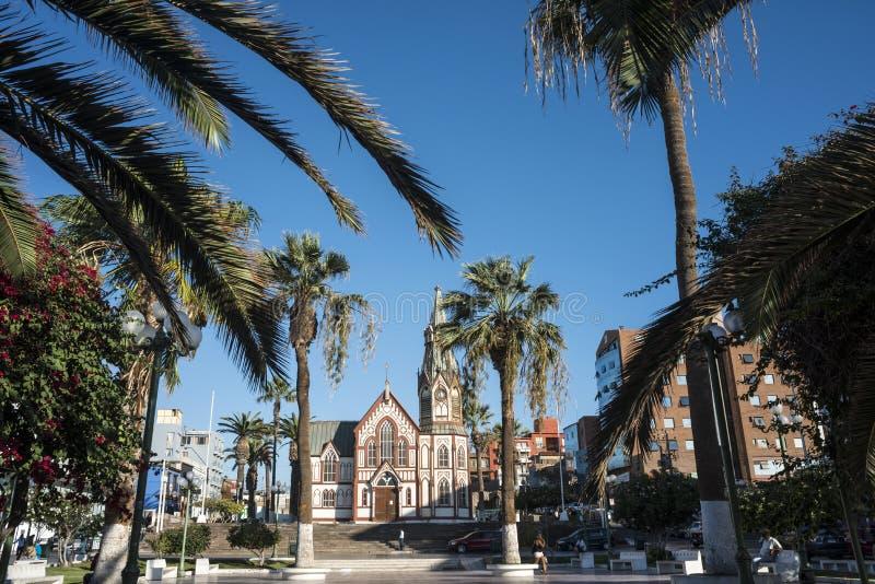 Saint do Gótico-estilo marca a catedral em Arica, o Chile imagem de stock royalty free