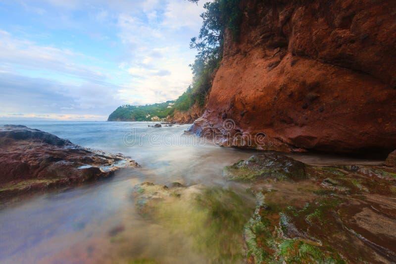 Saint du nord Lucia Coastline photographie stock libre de droits