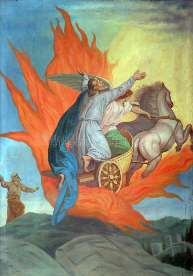 Saint Elijah stock illustration