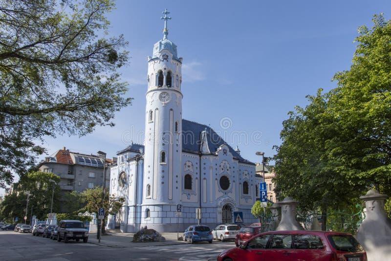 Saint Elisabeth church in Bratislava. A view of St. Elisabeth church also called Blue church stock images