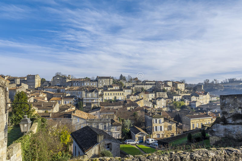Saint Emilion cityscape France royalty free stock photo