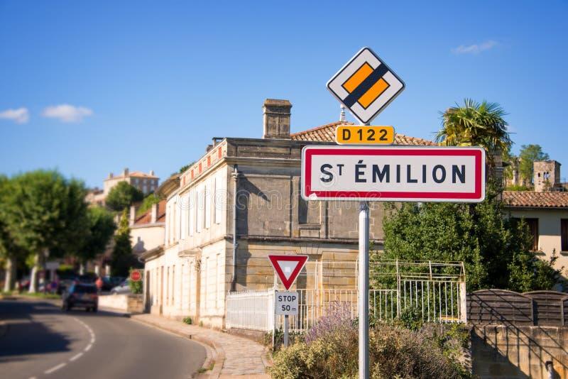 Saint Emilion nära Bordeaux, Frankrike royaltyfri bild