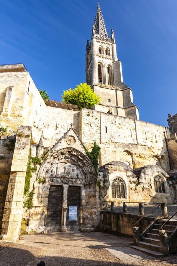 Saint Emilion no Bordéus do leste, Francie imagens de stock royalty free
