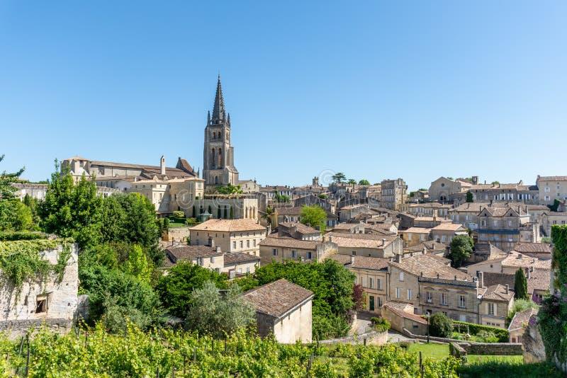 Saint Emilion, perto do Bordéus em Gironda, França foto de stock royalty free