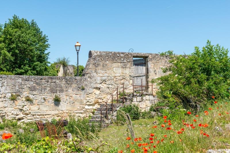 Saint Emilion, pobliscy bordowie w Gironde, Francja zdjęcia stock