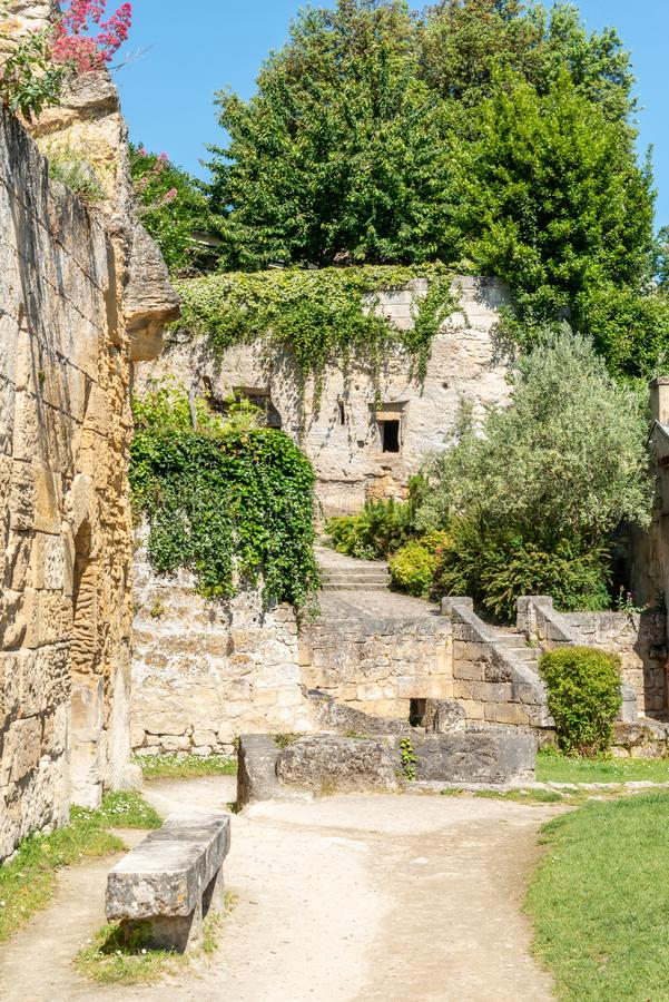 Saint Emilion, pobliscy bordowie w Gironde, Francja zdjęcie royalty free