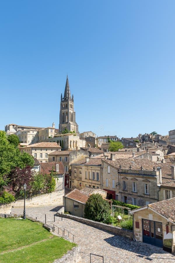 Saint Emilion, pobliscy bordowie w Gironde, Francja zdjęcia royalty free