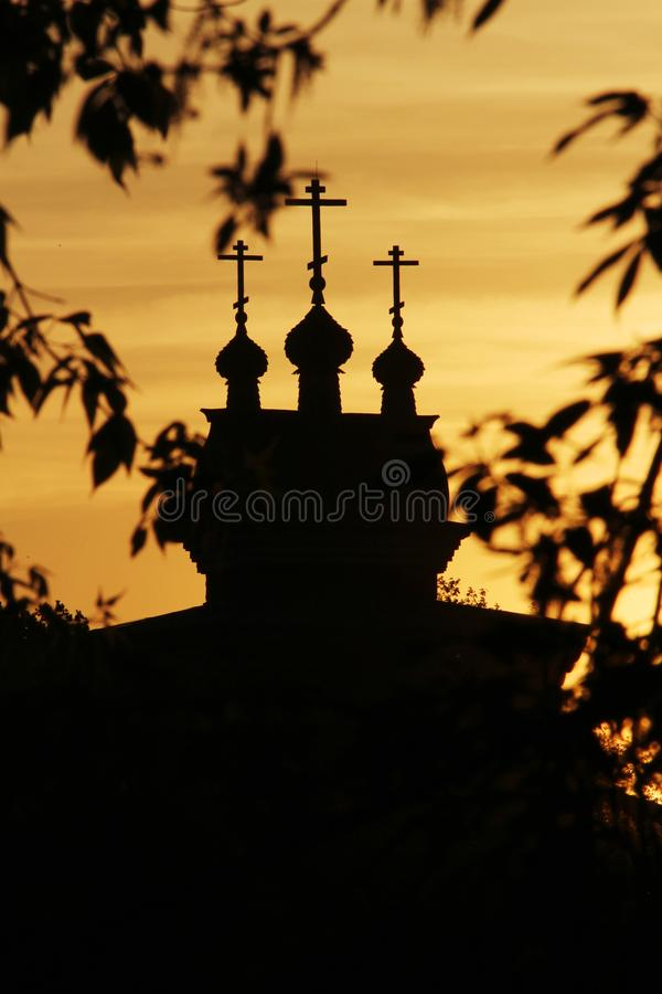 Saint en bois George Church dans Kolomenskoe, Moscou photos libres de droits
