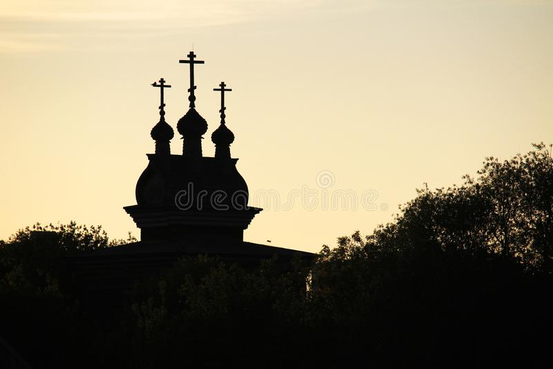Saint en bois George Church dans Kolomenskoe, Moscou photo libre de droits