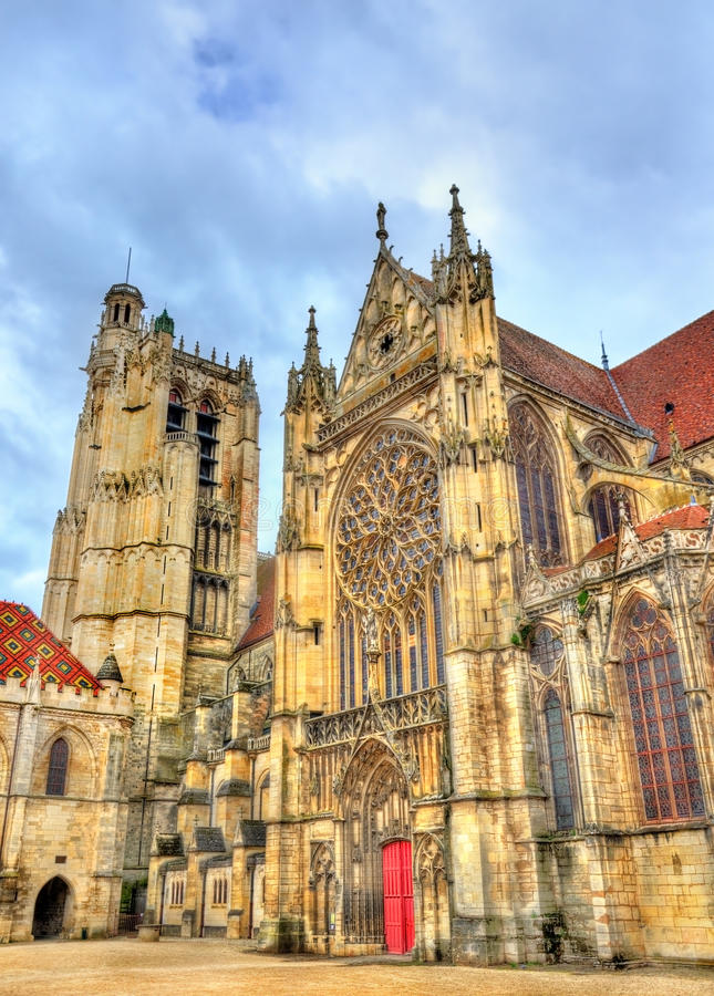 Saint Etienne Cathedral in Sens - France. Yonne stock photography