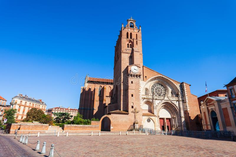 Saint Etienne Cathedral in Toulouse royalty free stock images
