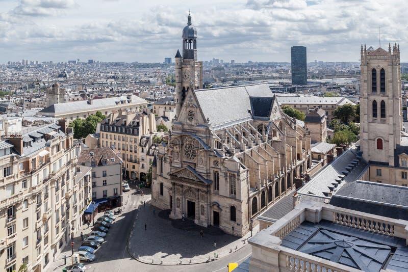 Saint-Etienne du Mont Church Parijs stock foto's