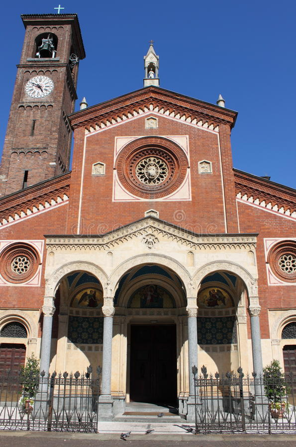 Saint Eufemia church, Milan stock photography