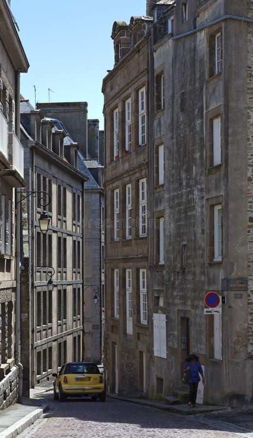 saint för rue för de fosse lamalo royaltyfri bild