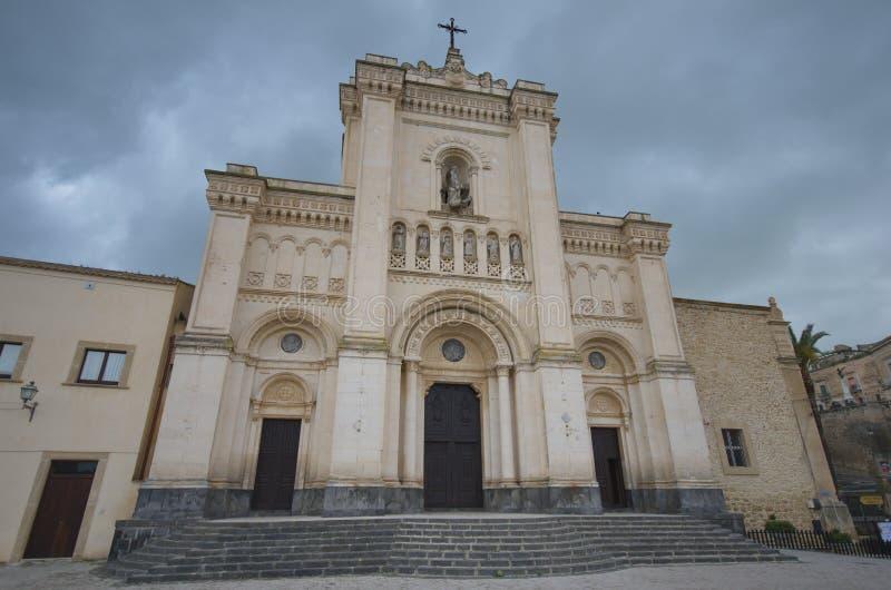 Saint Filippo Abbey d'Agira, Sicile image libre de droits