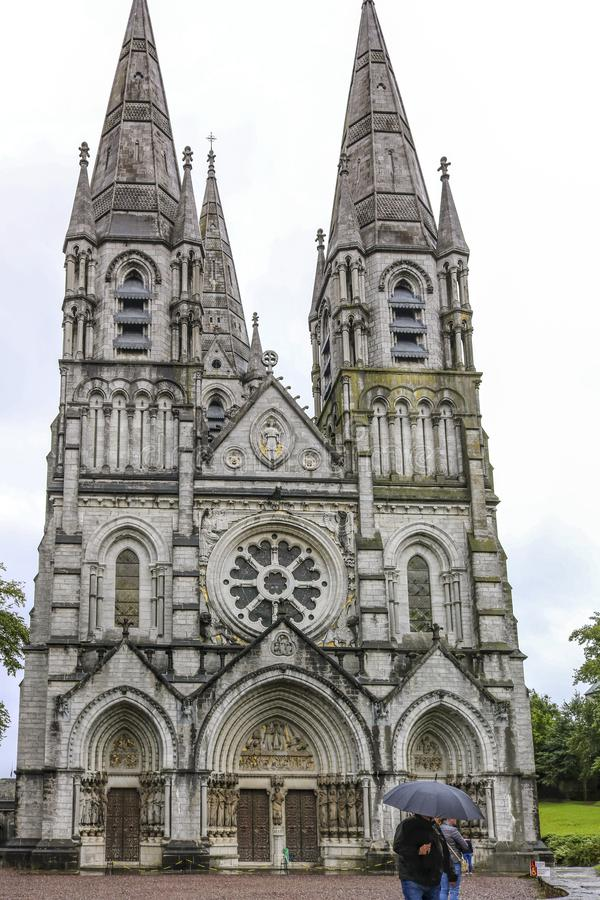 Saint Fin Barre`s Cathedral is cathedral in the city of Cork, Ireland royalty free stock images