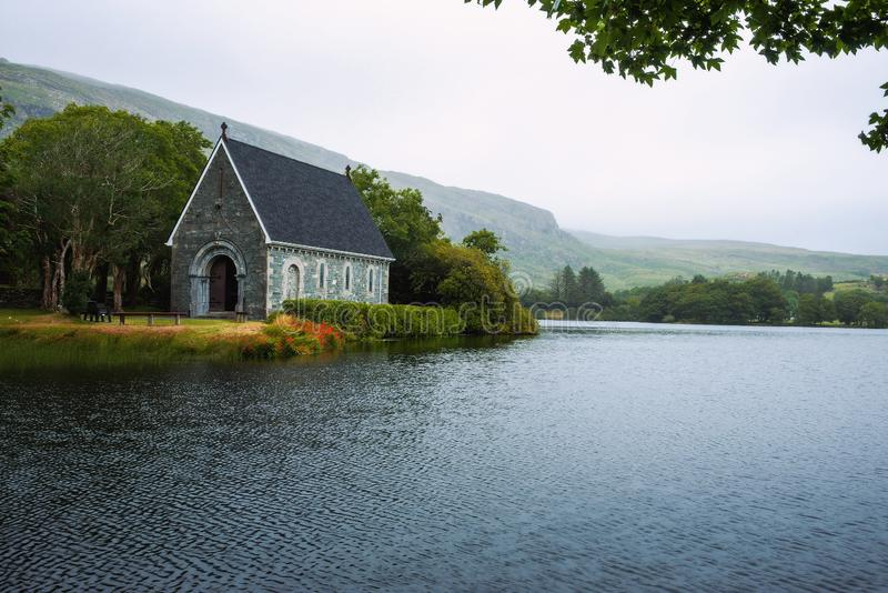 Saint Finbarr`s Oratory chapel in county Cork, Ireland. Built on an island in the Gouganebarra Lake royalty free stock images
