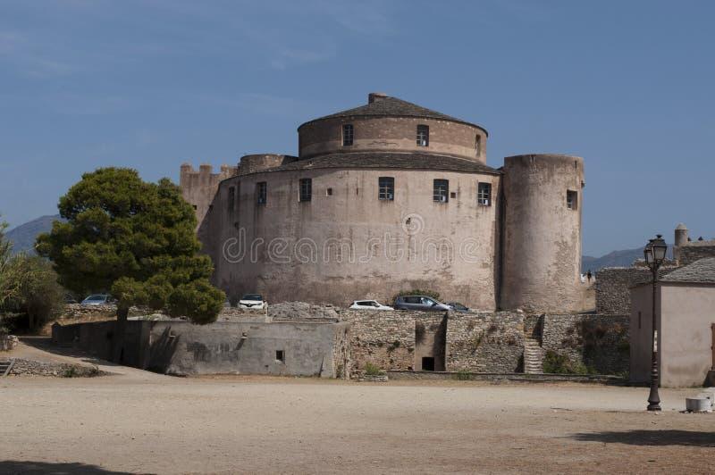 Saint Florent, San Fiorenzo, horizon, citadelle, Haute-Corse, Corse, France, île, l'Europe images stock