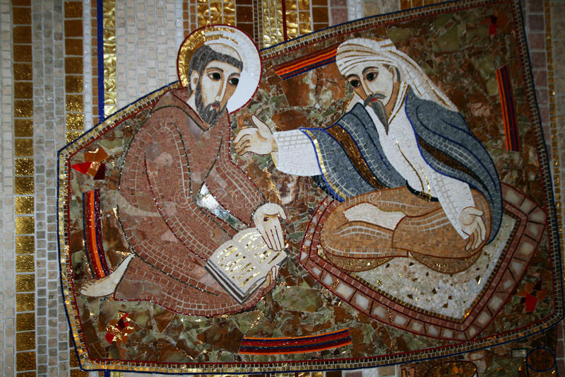 Saint francis mosaic royalty free stock photo