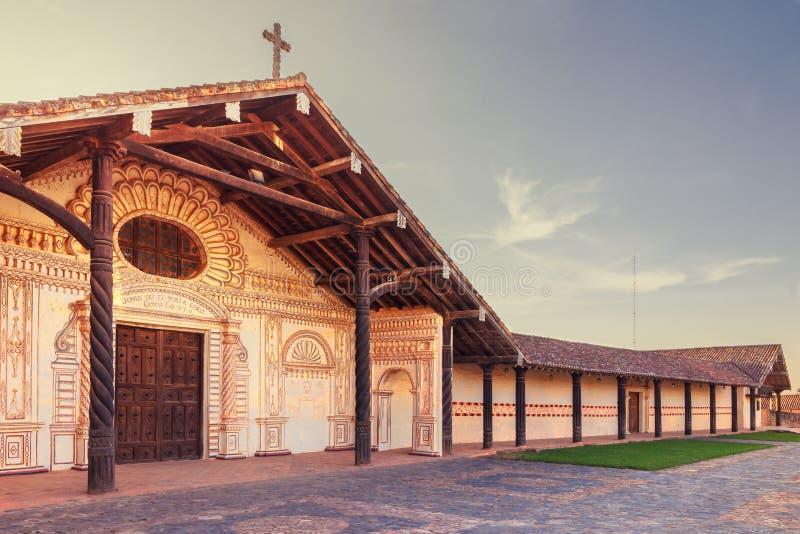 Saint Francis Xavier, missions d'église de jésuite dans la région de Chiquitos, Bolivie photo stock