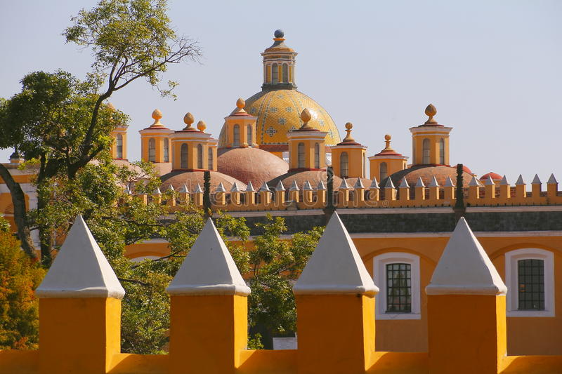 Saint Gabriel convent X. Franciscan friary of saint Gabriel Archangel, city of cholula, mexican state of puebla stock images