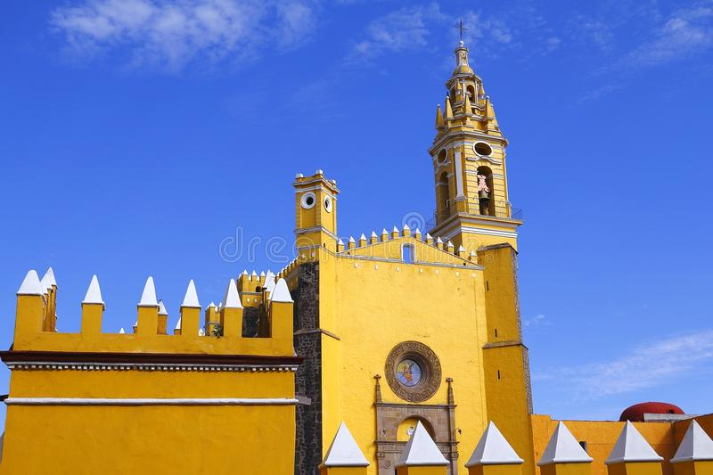Saint Gabriel convent I. Franciscan friary of saint Gabriel Archangel, city of cholula, mexican state of puebla stock image