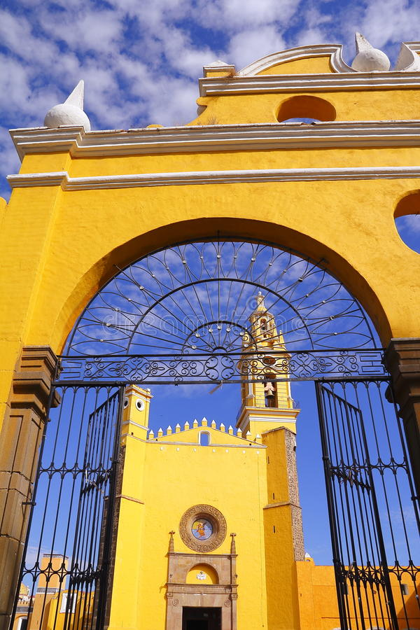 Saint Gabriel convent III. Franciscan friary of saint Gabriel Archangel, city of cholula, mexican state of puebla stock images