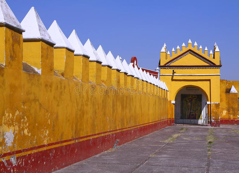 Saint Gabriel convent XI. Franciscan friary of saint Gabriel Archangel, city of cholula, mexican state of puebla stock photo