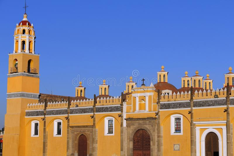 Saint Gabriel convent XII. Franciscan friary of saint Gabriel Archangel, city of cholula, mexican state of puebla stock images