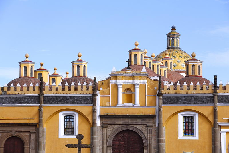 Saint Gabriel convent XIII. Franciscan friary of saint Gabriel Archangel, city of cholula, mexican state of puebla royalty free stock photo