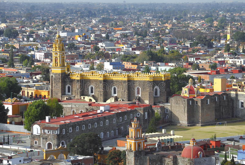 Saint Gabriel convent XIV. Franciscan friary of saint Gabriel Archangel, city of cholula, mexican state of puebla royalty free stock image