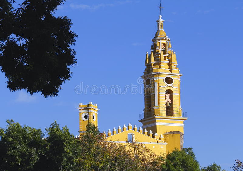 Saint Gabriel convent XIX. Franciscan friary of saint Gabriel Archangel, city of cholula, mexican state of puebla royalty free stock images