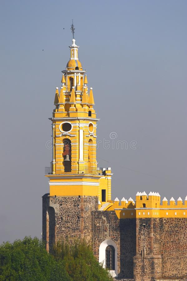 Saint Gabriel convent XV. Franciscan friary of saint Gabriel Archangel, city of cholula, mexican state of puebla stock image