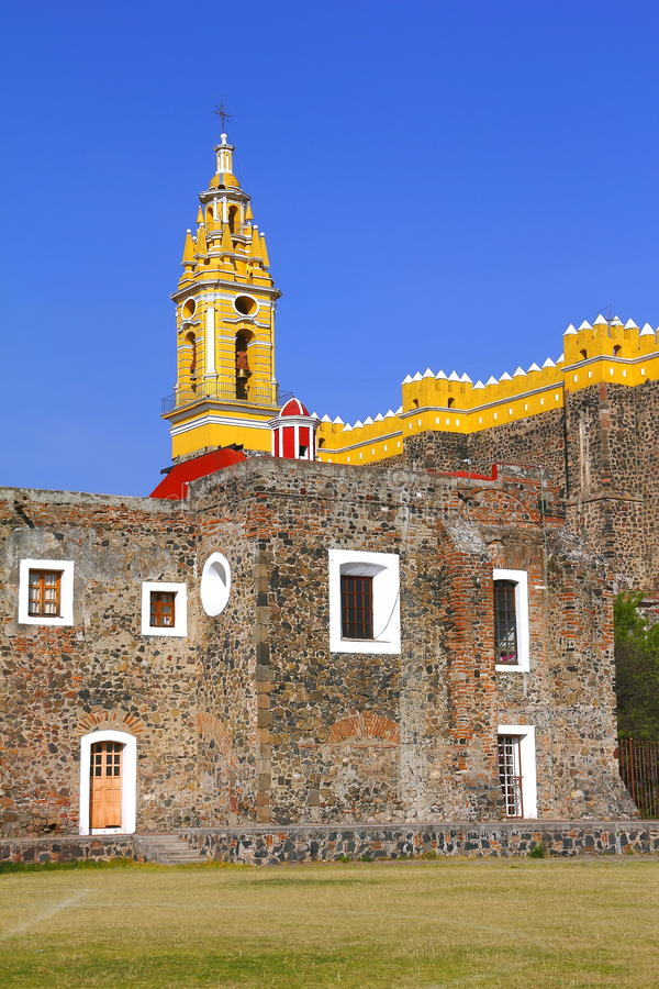 Saint Gabriel convent XVIII. Franciscan friary of saint Gabriel Archangel, city of cholula, mexican state of puebla royalty free stock photo