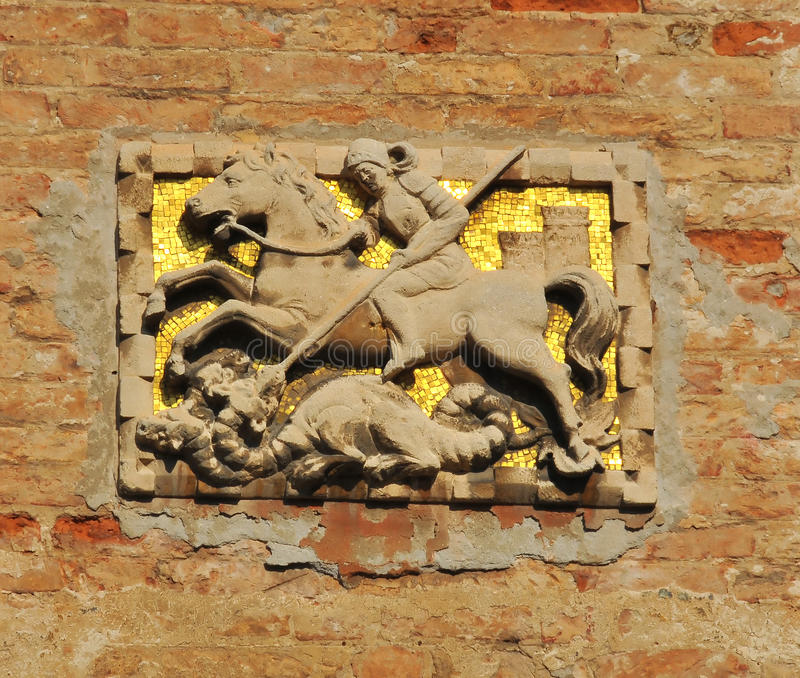 Download Saint George stock photo. Image of italy, sculpture, patron - 21692446