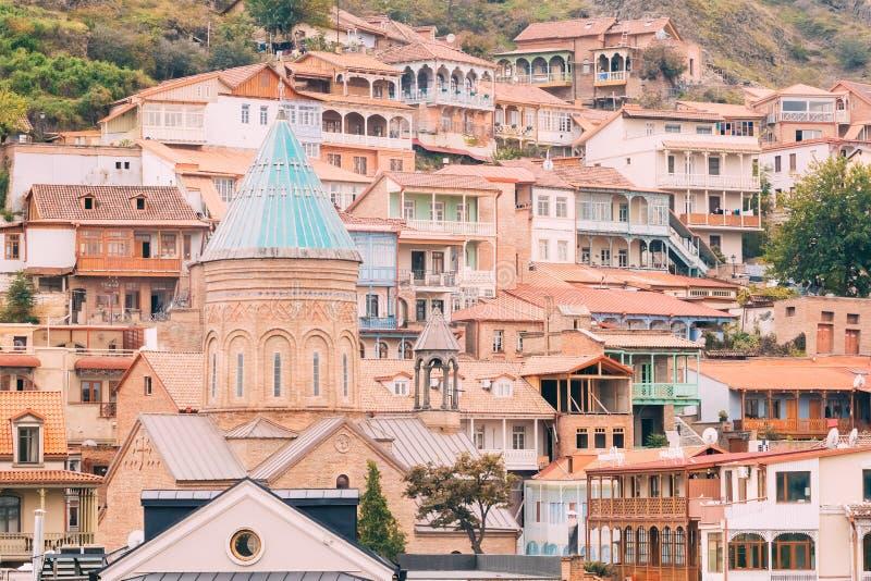 Saint George Armenian Cathedral de Tbilisi, Geórgia fotos de stock royalty free